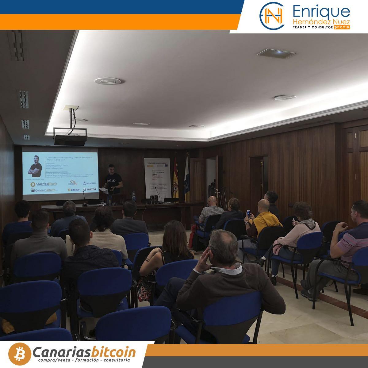Seminario sobre Bitcoin y Blockchain para red es ministerio tecnología de España