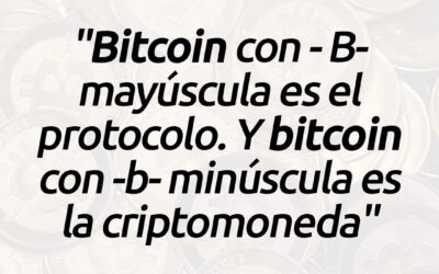 Diferencia entre Bitcoin con mayúscula y minúscula