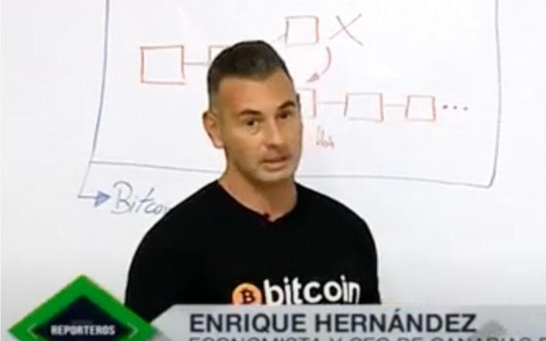 Reportaje sobre Bitcoin, Criptomonedas y estafa de Arbistar para Televisión Canaria.