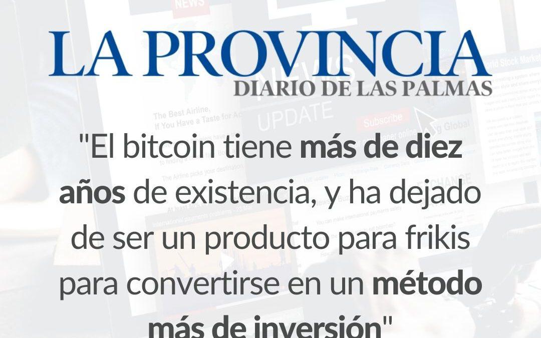 Entrevista sobre Bitcoin y Criptomonedas para el periódico La Provincia