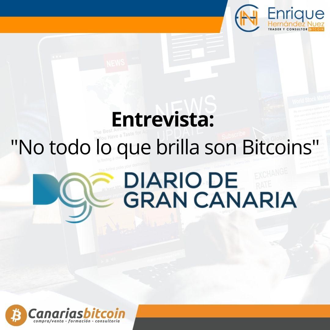 Entrevista a Enrique Hernández Nuez para Diario Gran Canaria sobre bitcoin.