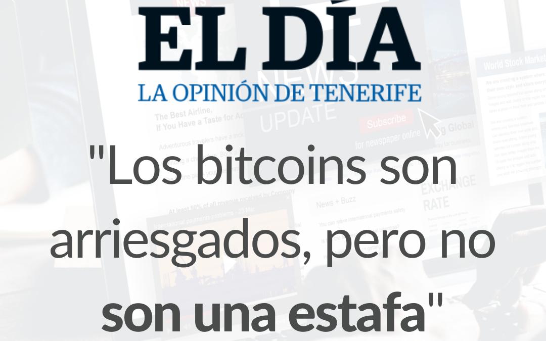 Entrevista sobre la situación del Bitcoin en 2021 para el periódico El Día