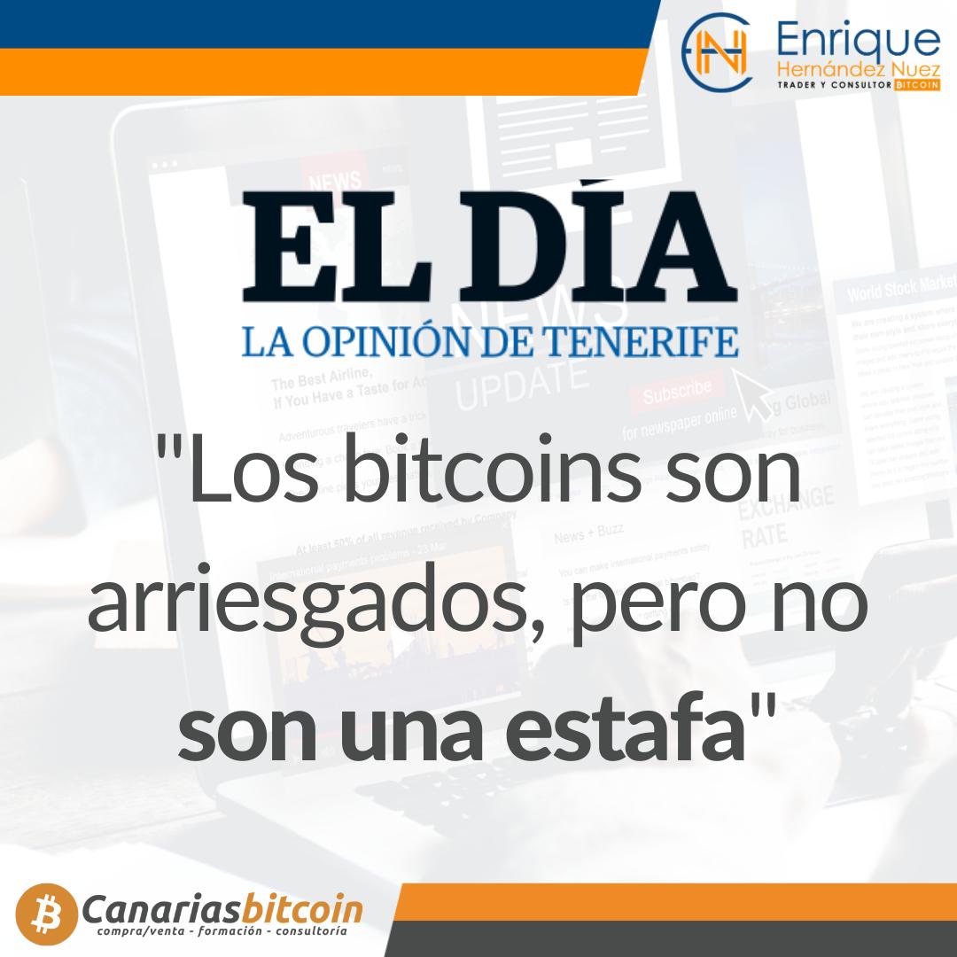 Para el diario El Día hablo sobre bitcoins
