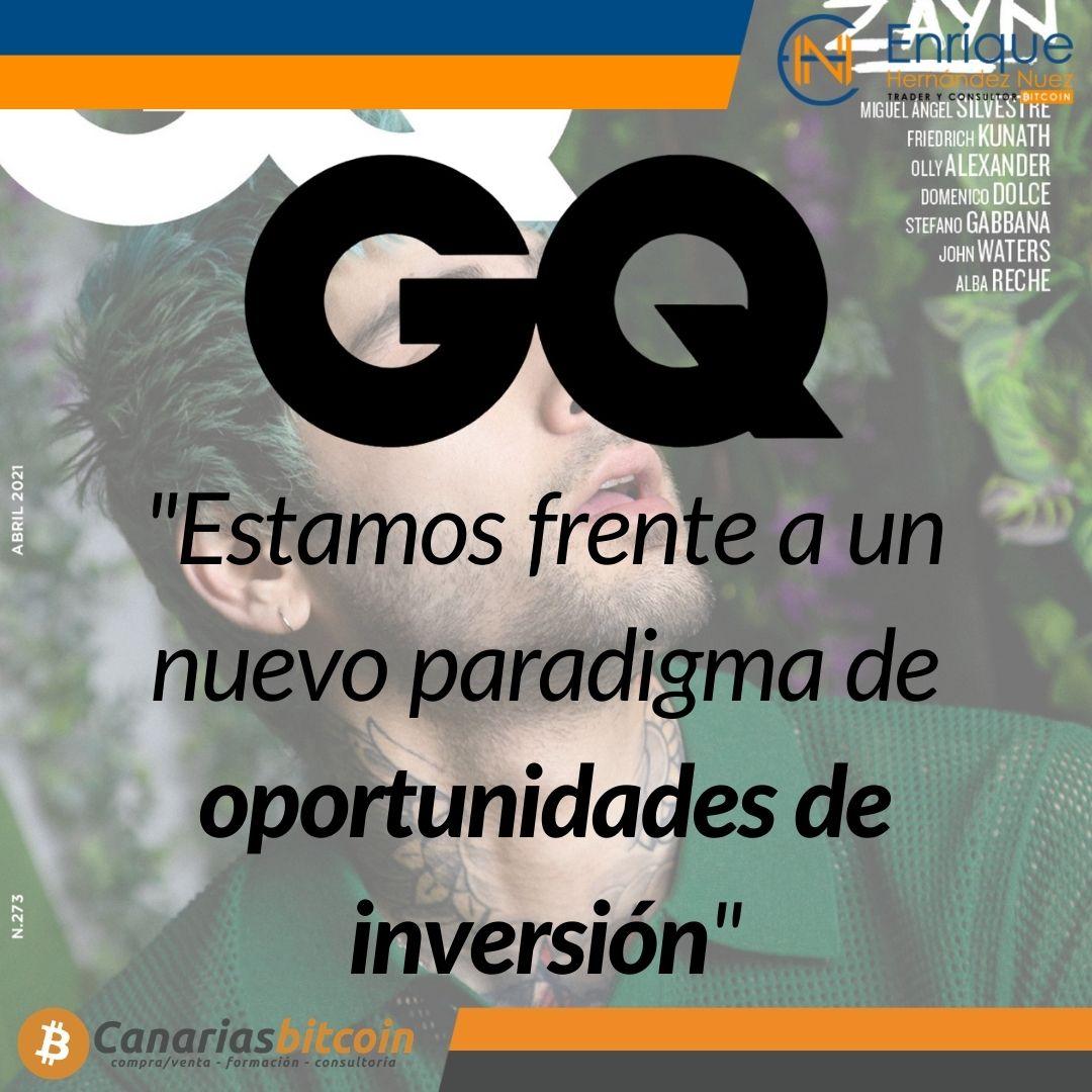 Peligros del Bitcoin y su inversión entrevista a Enrique Hernández Nuez revista GQ